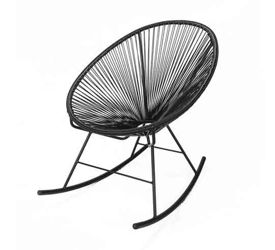 fauteuil acapulco rocking chair noir 95 salon d 39 t. Black Bedroom Furniture Sets. Home Design Ideas