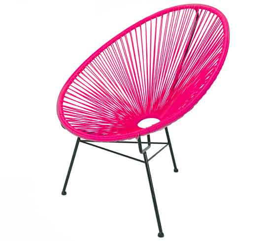 fauteuil acapulco rose 79 salon d 39 t. Black Bedroom Furniture Sets. Home Design Ideas