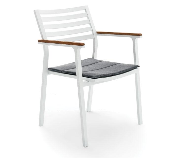 fauteuil de jardin blanc alu klara 159 salon d 39 t. Black Bedroom Furniture Sets. Home Design Ideas
