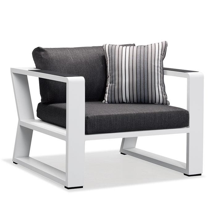 Salon de Jardin Aluminium 4 places Lounge Exee Blanc 1459€ | Salon d\'été