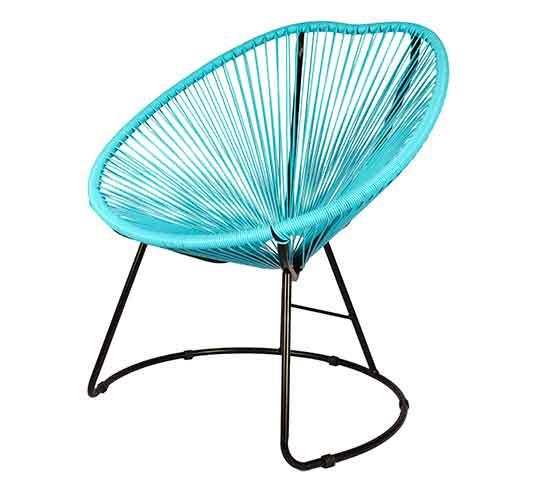 fauteuil de jardin copacabana fil bleu turquoise 99 salon d 39 t. Black Bedroom Furniture Sets. Home Design Ideas