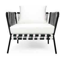 salon de jardin fil noir et blanc mexico 4 places 599 salon d 39 t. Black Bedroom Furniture Sets. Home Design Ideas