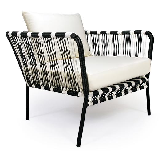 Salon de Jardin Fil Noir Et Blanc Mexico 4 places 599€ | Salon d\'été