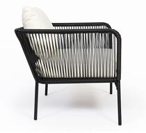 fauteuil de jardin fil noir mexico 189 salon d 39 t. Black Bedroom Furniture Sets. Home Design Ideas