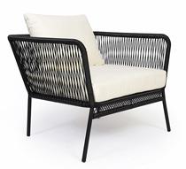 salon de jardin fil noir mexico 4 places 599 salon d 39 t. Black Bedroom Furniture Sets. Home Design Ideas