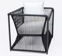 salon de jardin fil noir et blanc rio 2 places 379 salon d 39 t. Black Bedroom Furniture Sets. Home Design Ideas
