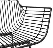 Lot 2 Chaises de Jardin Métal Filaire Noir Géométrique 219€ | Salon d