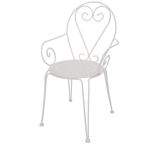 fauteuil de jardin romantique blanc 59 salon d 39 t. Black Bedroom Furniture Sets. Home Design Ideas