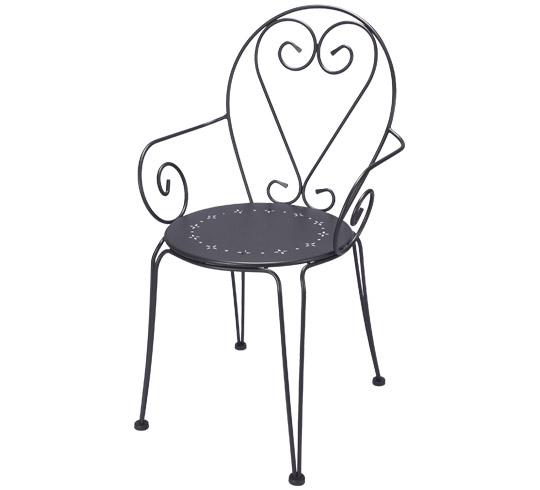 Fauteuil de Jardin Romantique Gris Anthracite 59€ | Salon d\'été