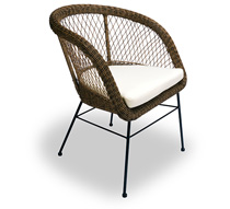 fauteuil de jardin rotin synth tique champ tre chic coussin ivoire 13. Black Bedroom Furniture Sets. Home Design Ideas