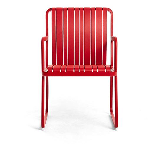 Chaise de Jardin Alu Rouge Séville 189€ | Salon d\'été