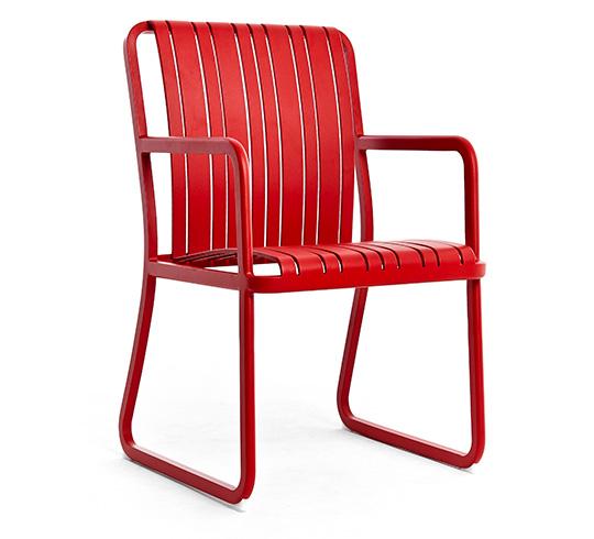 Chaise de Jardin Alu Rouge Séville 169€ | Salon d\'été