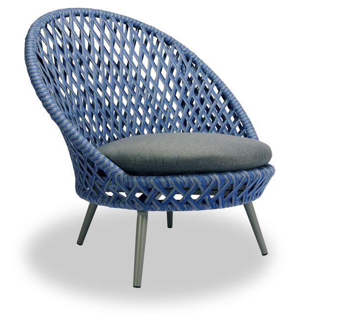 Fauteuil de Jardin Panama Tressé Bleu 429€   Salon d été d4ed67373875