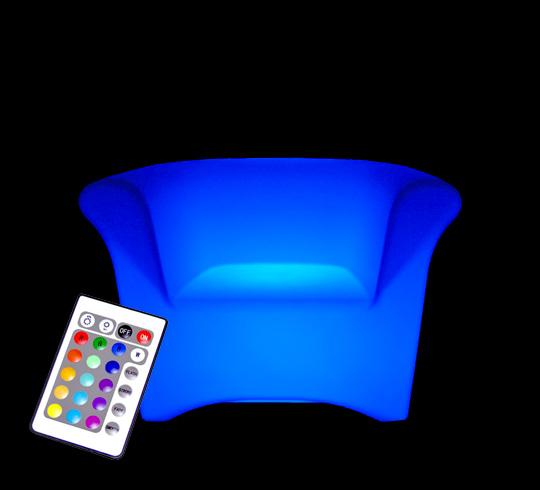 fauteuil lumineux led h76cm ext rieur sans fil 259 salon d 39 t. Black Bedroom Furniture Sets. Home Design Ideas