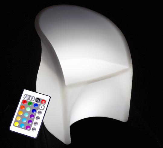fauteuil lumineux led h81cm ext rieur sans fil 189 salon d 39 t. Black Bedroom Furniture Sets. Home Design Ideas