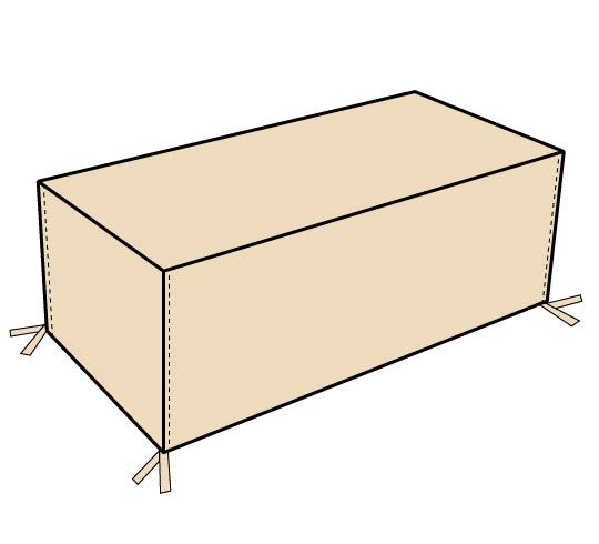housse table de jardin rectangulaire 175cm 29 salon d 39 t. Black Bedroom Furniture Sets. Home Design Ideas