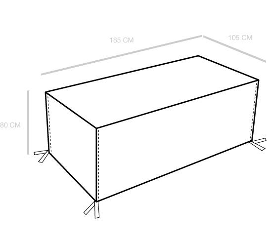 Housse Table de Jardin Rectangulaire 175cm