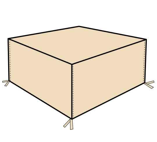 housse salon de jardin rectangulaire 160cm 32 salon d 39 t. Black Bedroom Furniture Sets. Home Design Ideas