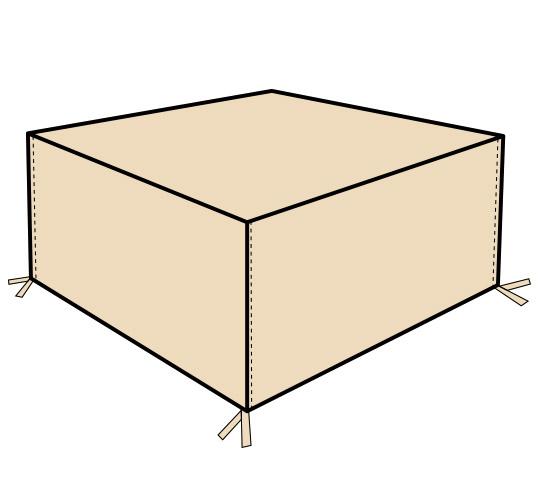 housse salon de jardin rectangulaire 160cm 39 salon d 39 t. Black Bedroom Furniture Sets. Home Design Ideas