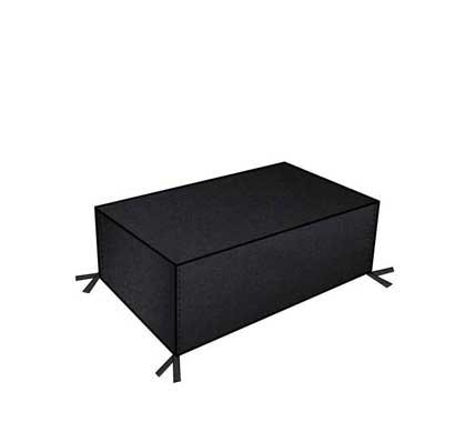 Housse Table Basse de Jardin Haut de Gamme 120cm Noir