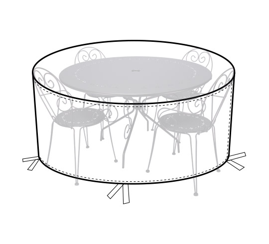 housse table de jardin ronde 140cm 32 salon d 39 t. Black Bedroom Furniture Sets. Home Design Ideas