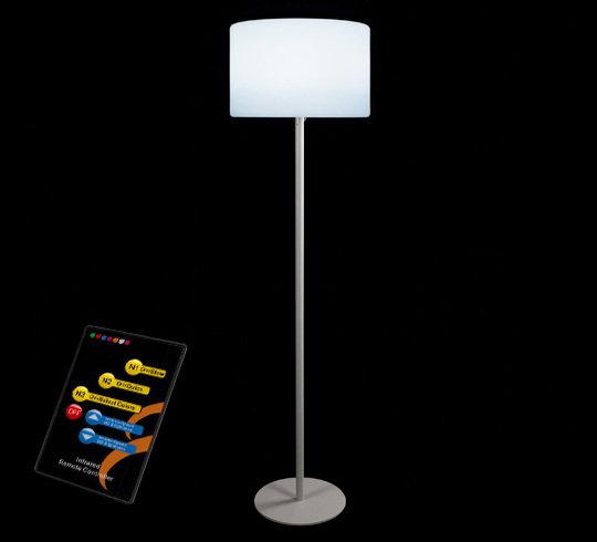 lampadaire de jardin led h143cm sans fil rechargeable 99. Black Bedroom Furniture Sets. Home Design Ideas
