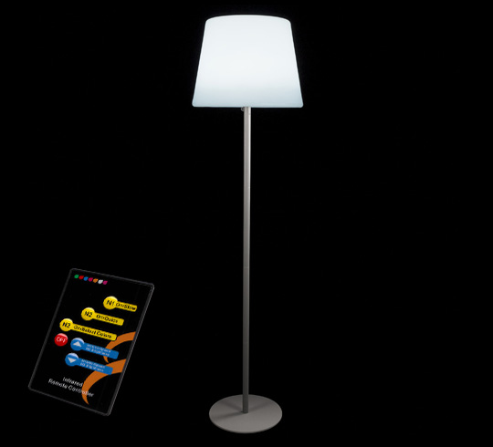 lampadaire de jardin led h148cm sans fil rechargeable 99 salon d 39. Black Bedroom Furniture Sets. Home Design Ideas