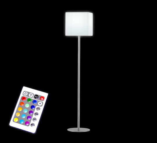 lampadaire de jardin led h170 cm sans fil rechargeable 99 salon d 39. Black Bedroom Furniture Sets. Home Design Ideas