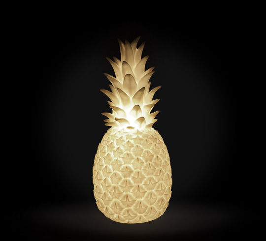 Lampe à Poser Ananas Lumineux LED H42 cm Blanc Filaire