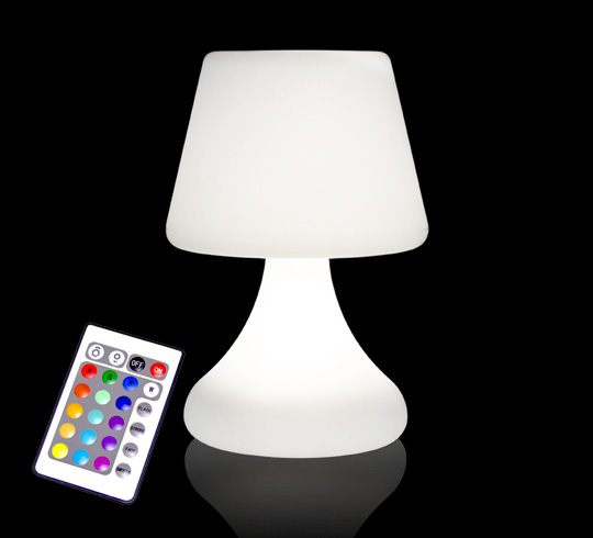 Lampe de table led h26cm sans fil rechargeable 49 salon for Lampe exterieur sans fil