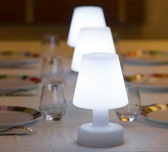Lampe De Table Extérieur H25cm Sans Fil Rechargeable