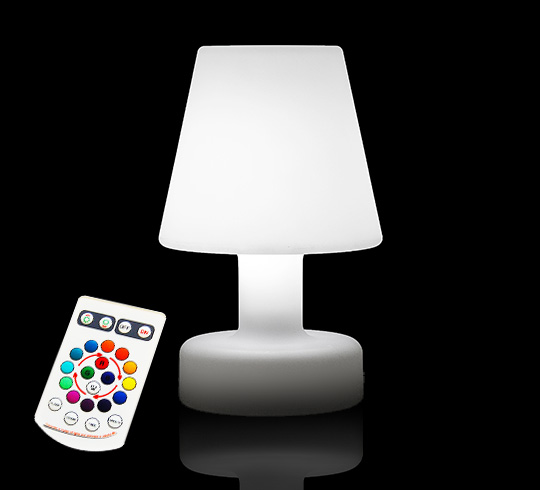 Lampe de table led h25cm sans fil rechargeable 49 salon for Lampe de table rona