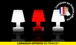 Lampe de Table LED H25cm Sans Fil Rechargeable