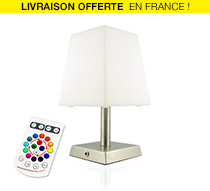 lampe de table led h27cm sans fil rechargeable 59 salon. Black Bedroom Furniture Sets. Home Design Ideas