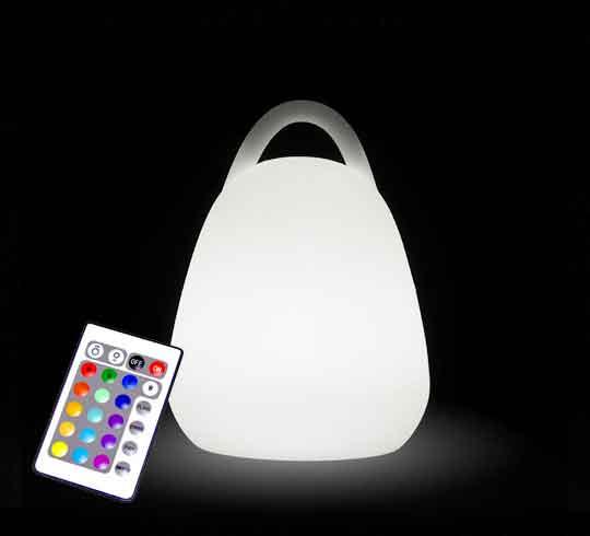 lampe de table led sans fil rechargeable lanterne h16 cm 49 salon. Black Bedroom Furniture Sets. Home Design Ideas