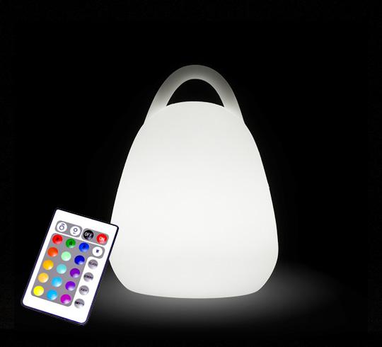 lampe de table led sans fil rechargeable lanterne h16 cm. Black Bedroom Furniture Sets. Home Design Ideas
