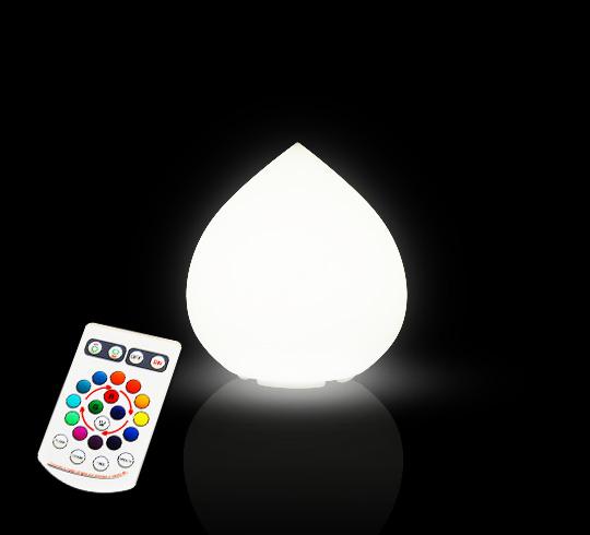 Lampe A Poser Led Goutte H25 Cm Sans Fil Rechargeable 49 Salon D Ete