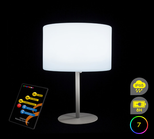 lampe de table led h53cm sans fil rechargeable 79 salon d 39 t. Black Bedroom Furniture Sets. Home Design Ideas