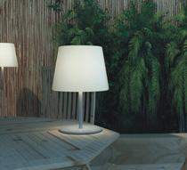 Lampe de table led h58cm sans fil rechargeable 29 salon for Lampe de salon sans fil