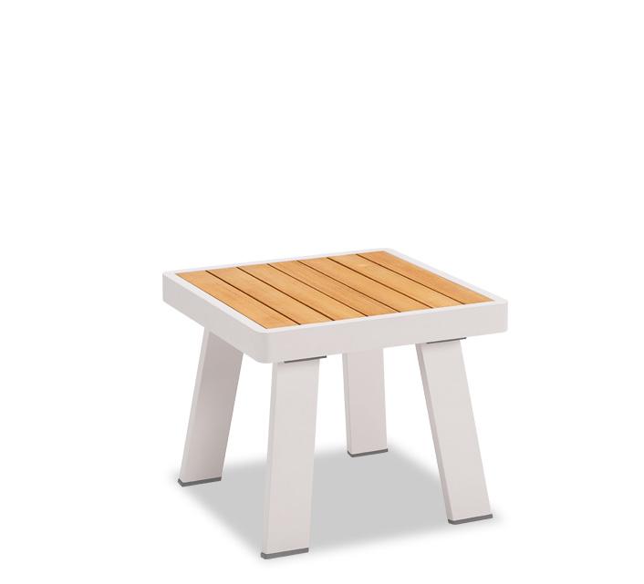 Table basse de Jardin 45x45 cm Aluminium Lounge Nofi Beige