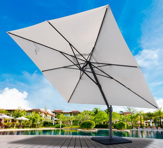 parasol d port 3 5m carr beige rotatif aluminium 209. Black Bedroom Furniture Sets. Home Design Ideas