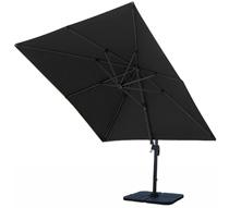 parasol d port carr noir 3x3 m rotatif aluminium 229 salon d 39 t. Black Bedroom Furniture Sets. Home Design Ideas