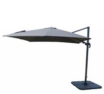 parasol d port rectangulaire taupe 4x3 m haut de gamme. Black Bedroom Furniture Sets. Home Design Ideas