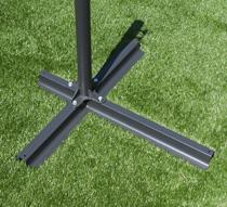 parasol d port rond taupe 3m levier 69 salon d 39 t. Black Bedroom Furniture Sets. Home Design Ideas