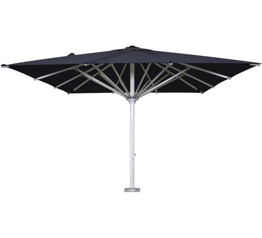 parasol droit 5x5 m noir usage professionnel 850. Black Bedroom Furniture Sets. Home Design Ideas