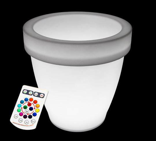Pot lumineux led h 80cm ext rieur sans fil 259 salon d 39 t for Peinture phosphorescente exterieur