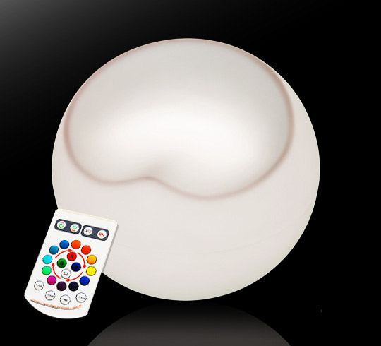 Pouf Ball Chair Lumineux LED H50cm Sans Fil