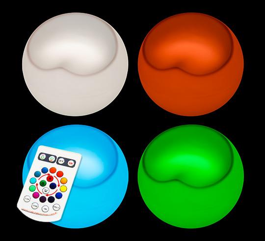 Lot De 4 Poufs Ball Chair Lumineux LED H45cm Sans Fil 369€   Salon d\'