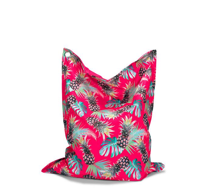pouf g ant ext rieur xl rose motif ananas haut de gamme 89. Black Bedroom Furniture Sets. Home Design Ideas