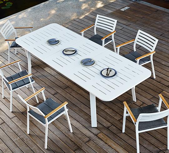 Emejing Table De Jardin Alu Blanc Pictures - Amazing House Design ...